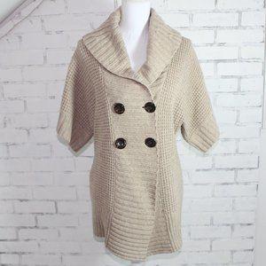 Banana Republic Tan Short Sleeve Knit Sweater
